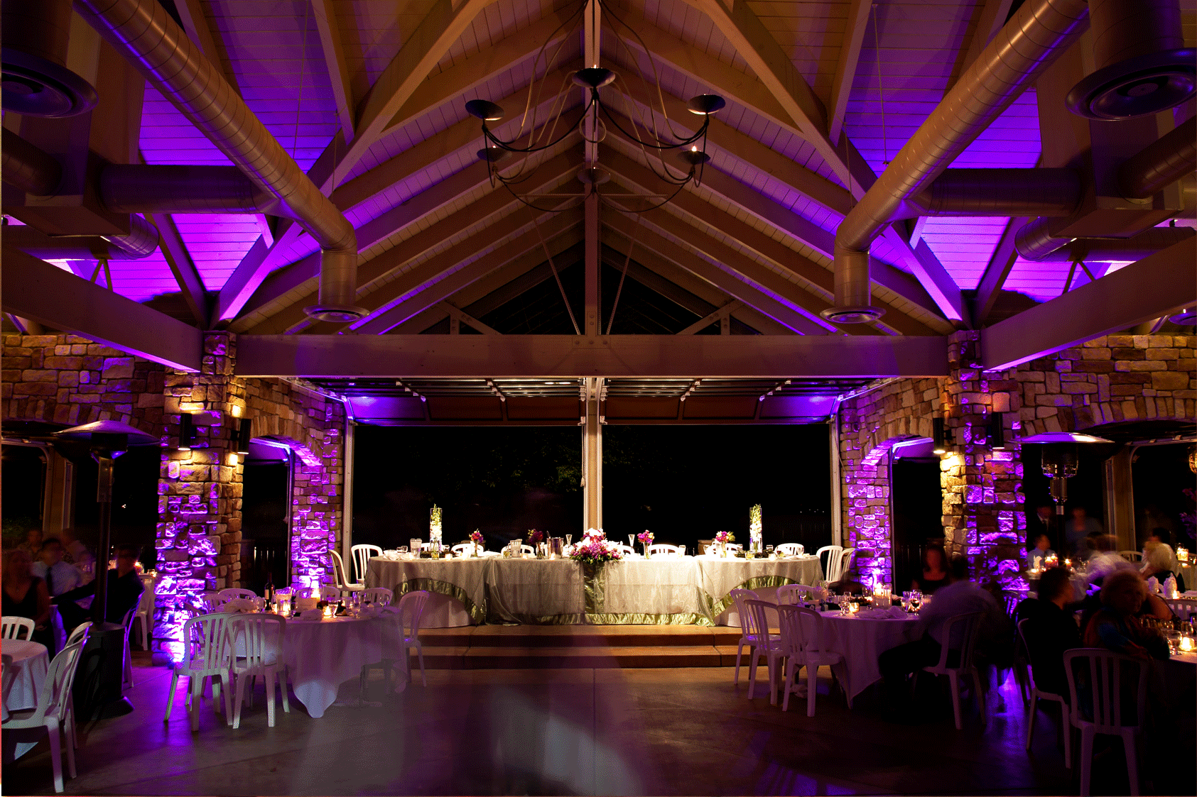 Purple Lighting For Wedding