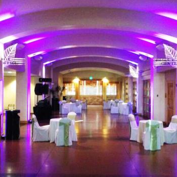 Purple lighting entrance