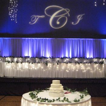 Wedding Uplights and Monogram